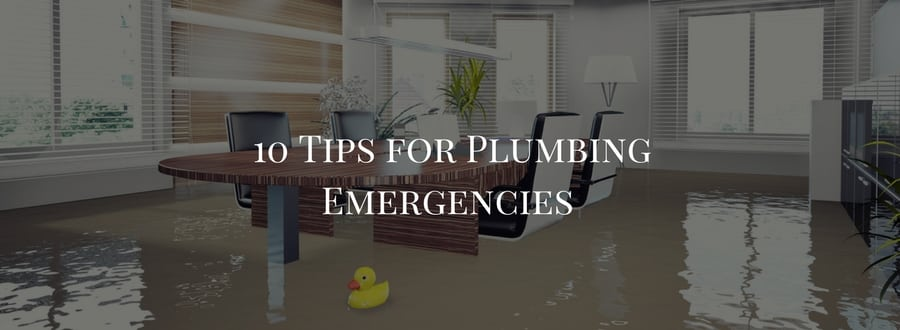 emergency plumbing, plumbing emergencies