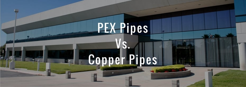 Pex pipes and copper pipes